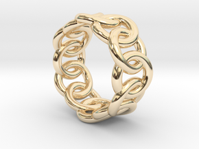 Chain Ring 19 – Italian Size 19 in 14K Yellow Gold