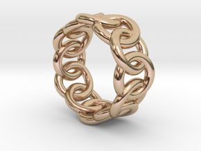 Chain Ring 21 – Italian Size 21 in 14k Rose Gold Plated