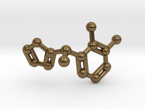 Dexmedetomidine Molecule Keychain Pendant in Natural Bronze