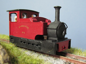 009 Irish Tram Engine 2 in White Natural Versatile Plastic
