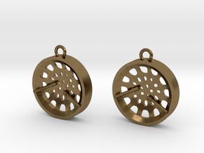 """Low Tenor """"Void"""" steelpan earrings in Natural Bronze"""
