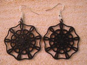 Large Nine-Way Earrings in Black Strong & Flexible