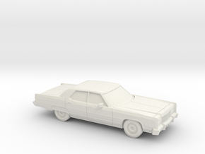 1/87 1974 Lincoln Continental Sedan in White Strong & Flexible