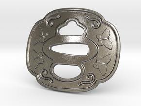 Tsuba Belt Buckle - 鍔  バックル in Polished Nickel Steel