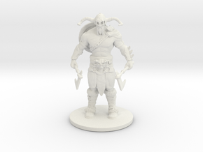 Viking_ Print in White Natural Versatile Plastic