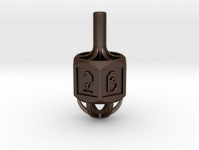 Dice: Spinner Vertex Dice in Matte Bronze Steel