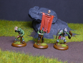 Goblin Command Squad in Black Hi-Def Acrylate