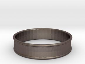 1 31/32 Inch (50mm) 2x Flare Ear Tunnel (single) in Polished Bronzed Silver Steel