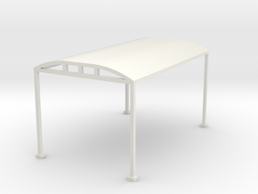 Carport 1-87 HO Scale  in White Natural Versatile Plastic