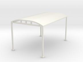 Carport 1-87 HO Scale  in White Natural Versatile Plastic