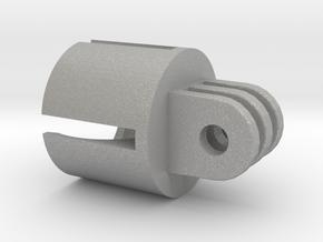 Action camera Socket Mount 3 Prong in Aluminum