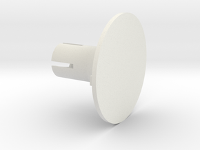 Round Base in White Natural Versatile Plastic