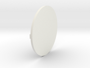 Round Base 01 in White Natural Versatile Plastic