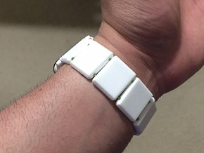 22mm Watch Band Links in White Strong & Flexible Polished