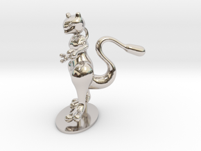 Mewtwo in Rhodium Plated Brass