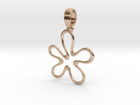 Flana Pendant in 14k Rose Gold Plated Brass