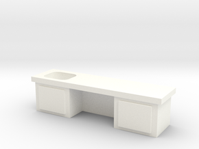 Lab Table in White Strong & Flexible Polished