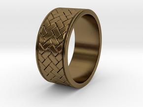 weave ring V1 Size 9.5 in Polished Bronze