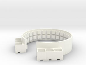 1/48 40mm Twin Gun Tub Shield in White Processed Versatile Plastic