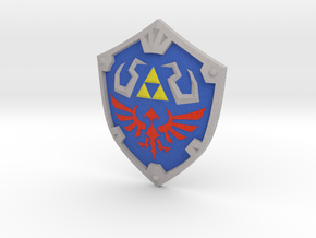 """SS"" Hylian Shield in Full Color Sandstone"