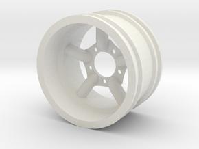 Mach5 Challenger Wide in White Natural Versatile Plastic
