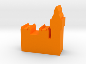 Game Piece, Uk Parliament and Big Ben in Orange Processed Versatile Plastic