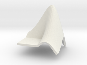 L-Shaped Membrane in White Natural Versatile Plastic