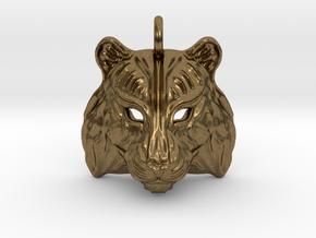 Tiger Small Pendant in Natural Bronze