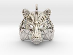 Tiger Small Pendant in Platinum
