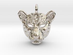 Leopard Pendan in Platinum