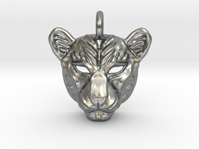 Leopard Small Pendan in Natural Silver