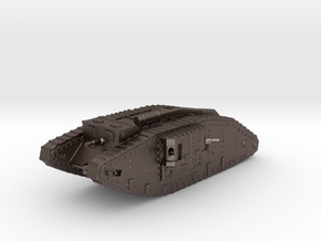1/100 Mk.IV Female Tank in Polished Bronzed Silver Steel