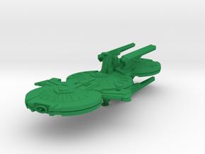 Glorious Gorn battleship in Green Strong & Flexible Polished