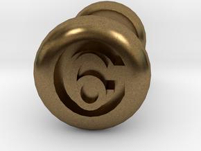 6 Gauge Ear Tunnel Engraved in Natural Bronze