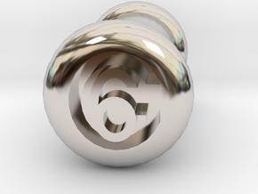 6 Gauge Ear Tunnel Engraved in Platinum