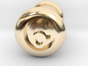 6 Gauge Ear Tunnel Engraved in 14k Gold Plated Brass