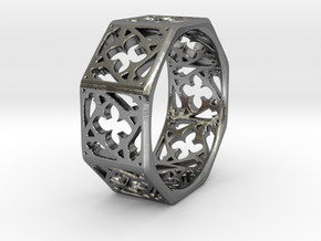 Gothic Window Ring in Polished Silver: 7 / 54