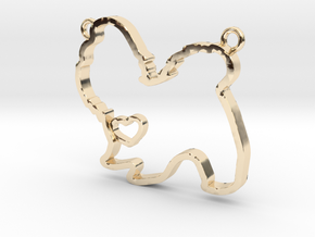 Shih tzu in 14k Gold Plated Brass