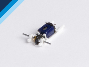 Small Can motor mount - Slot.it compatible in White Natural Versatile Plastic