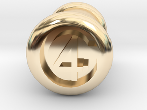 4 Gauge Ear Tunnel Engraved in 14k Gold Plated Brass