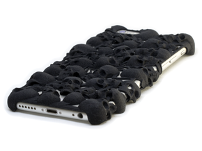 iPhone 6 Skull Case in Black Strong & Flexible