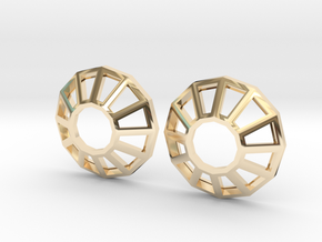 Rhinestone Wireframe Earrings in 14K Yellow Gold