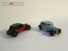 Citroën Traction Avant SET (N 1:160) in Smooth Fine Detail Plastic