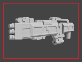 """""""SAWBACK"""" Transformers Weapon (5mm post) in White Natural Versatile Plastic"""