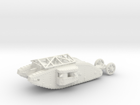 1/160 Mk.I Female tank with grenade roof in White Strong & Flexible