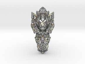 Dragon Ring - Size 10  in Natural Silver