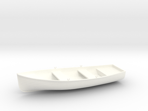 1/35 Wherry Life Raft Boat (Dinghy) in White Strong & Flexible Polished