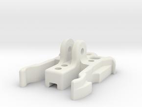 GimbalMount2Gopro SlideHolder in White Natural Versatile Plastic