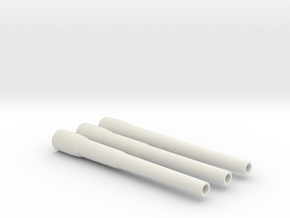 1/144 Iowa Class Barrel Set in White Natural Versatile Plastic