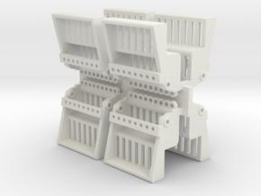 Spacewheelseat8pack in White Natural Versatile Plastic